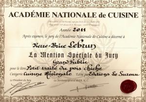 Un pois chiche a n a pas de prix le blog de pierre for Academie nationale de cuisine